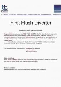 First Flush Diverter Installation and Warranty